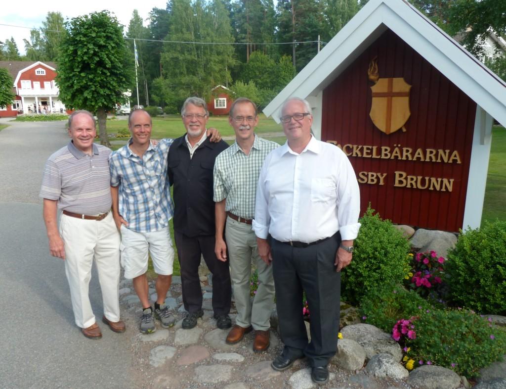 l to r: Wally Schoon, Ric Schoon, Fred Wright, John Poysti $ Ulf Andersson