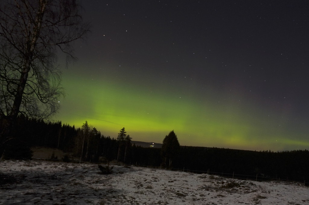 The Northern Lights as seen from Holsby